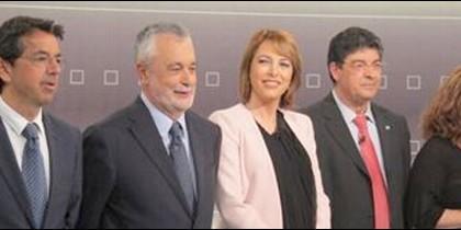 Diego, Valderas, José Antonio Griñán y Mabel Mata.