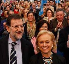 Rajoy con Mercedes Fernández.