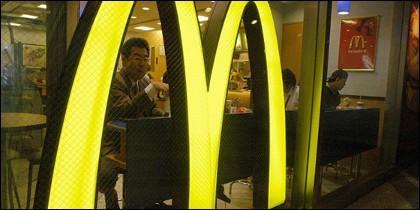 Fachada de un restaurante McDonald's.