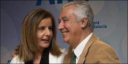 Fátima Báñez y Javier Arenas.