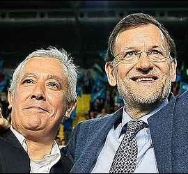 Javier Arenas con Mariano Rajoy.