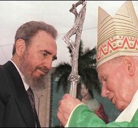 Fidel Castro con Juan Pablo II