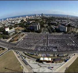Misa del papa en Cuba