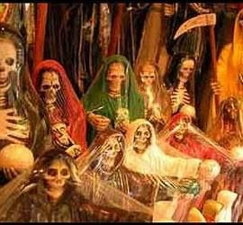 El culto a la Santa Muerte.