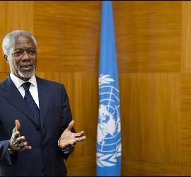 Kofi Annan, enviado especial para Siria de Naciones Unidas y la Liga Árabe.