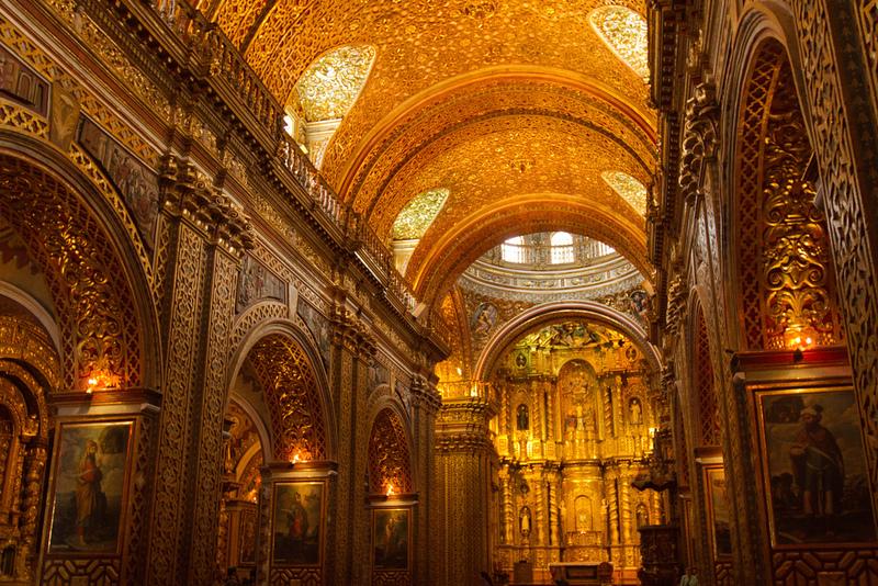 La Iglesia De La Compañía Una Joya Del Arte Barroco En: La Iglesia De Oro Puro De Quito :: América :: Religión