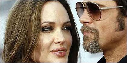 La bella Angelina Jolie y el guapo Brad Pitt.