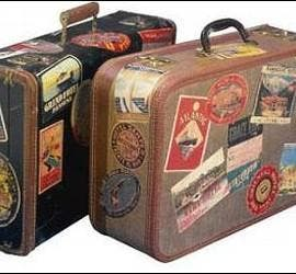 Maleta, equipaje, emigrante, turista.