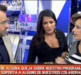Jorge Javier Vázquez, Aída Nizar y María Teresa Campos.