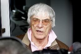 El patrón de la Fórmula Uno, el británico Bernie Ecclestone.