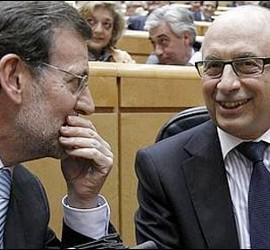 Mariano Rajoy y Cristóbal Montoro.