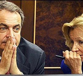 José Luis Rodríguez Zapatero y Elena Salgado.
