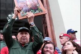 Chávez pidió a Cristo su curación