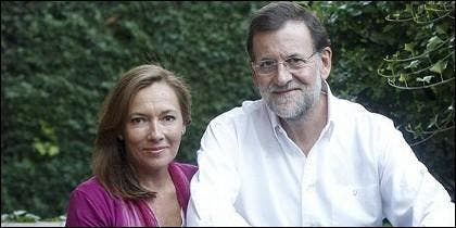 Elvira Rodríguez Viri con Mariano Rajoy.