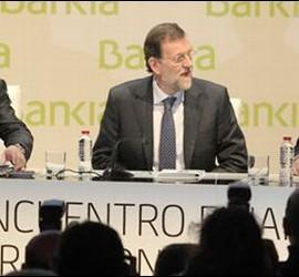 Juan Luis Cebrián, Mariano Rajoy y Rodrigo Rato.