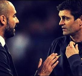 Pep Guardiola con Tito Vilanova.