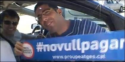 Protesta contra las autopistas de peaje.