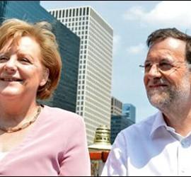 Merkel y Mariano Rajoy en Chicago.