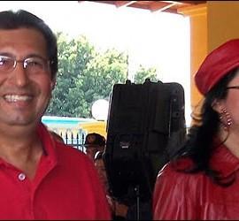 Adán Chávez y su mujer.