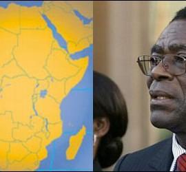 Guinea Ecuatorial en el mapa y Teodoro Obiang.