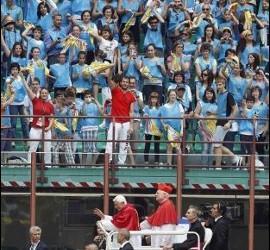 El Papa en San Siro con los jóvenes