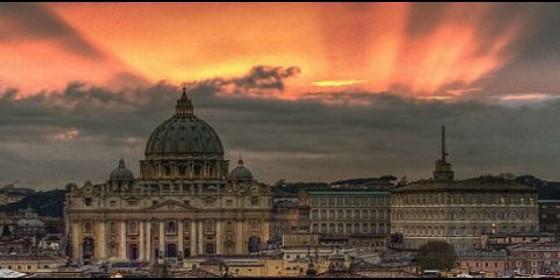 Vaticano anochecer