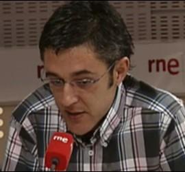 Captura de la entrevista de Rne a Eduardo Madina.