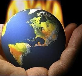 Planeta Tierra, cambio climático, calentamiento global y contaminación.