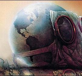 Planeta Tierra, cambio climático y contaminación.