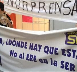 Concentración de trabajadores de la SER - 28 de junio de 2012.