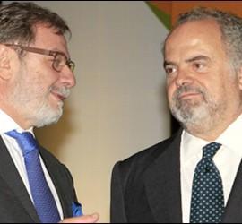 Juan Luis Cebrián e Ignacio Polanco. 30 junio de 2012
