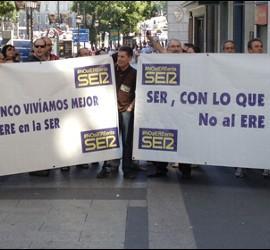 Protestas de la Cadena SER. 30 de junio de 2012
