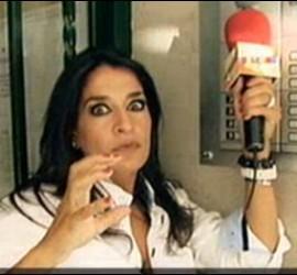 Captura de Aída Nízar en 'Sálvame'.