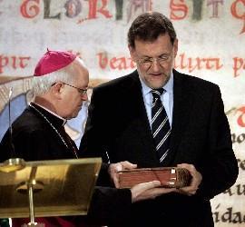 Rajoy y Barrio con el Códice
