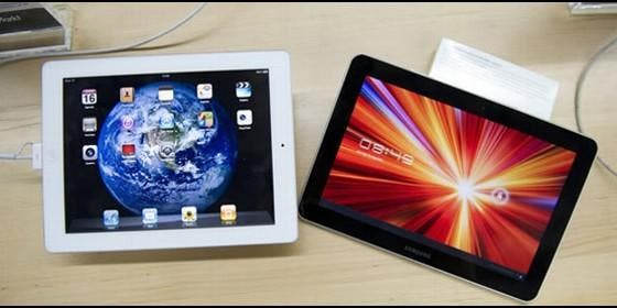 iPad y tablet de Samsung Galaxy.