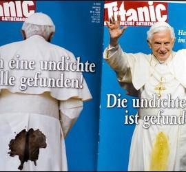 Portada y contraportada de Titanic sobre el Papa