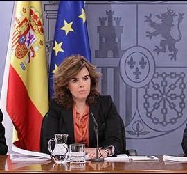 Cristobal Montoro, Soraya Sáenz de Santamaría y José Manuel Soria.