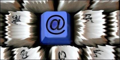 Correo, internet, e-mail, red, arroba y comunicación.