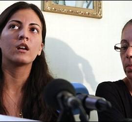 La hija y la viuda de Oswaldo Payá.