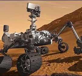 El robot Curiosity en Marte.