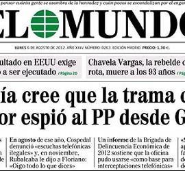 Portada del diario 'El Mundo' del 6 de agosto de 2012.