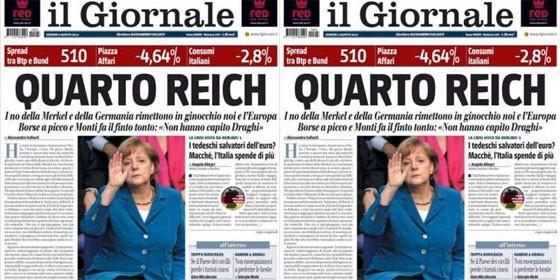 Alemania enfurecida con la portada italiana del \'Cuarto Reich ...