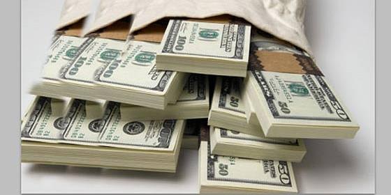Dólares, dinero y fortuna.