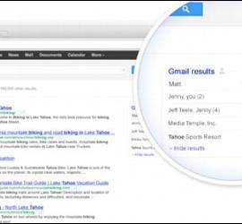 Resultada de una búsqueda en Google que incluye los correos de Gmail.