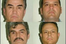 Los cuatro miembros del cártel de Sinaloa detenidos en Madrid en la operación 'Dark Waters'.