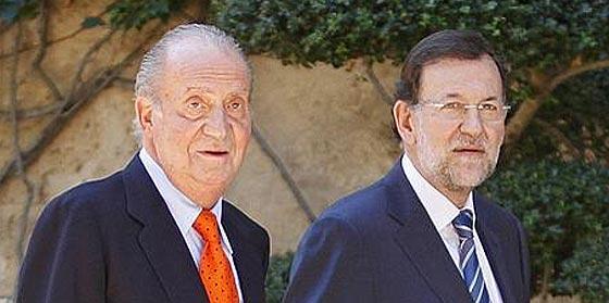 Juan Carlos I y Mariano Rajoy
