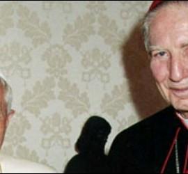 Martini, con Benedicto XVI