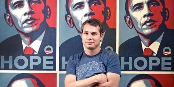 Resultado de imagen para poster Hope en la campaña de Obama