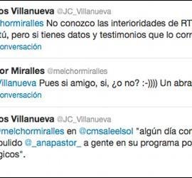 Captura del Twitter de Melchor Miralles y J. C. Villanueva.