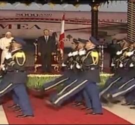Ceremonia de despedida al Papa en el aeropuerto de Beirut